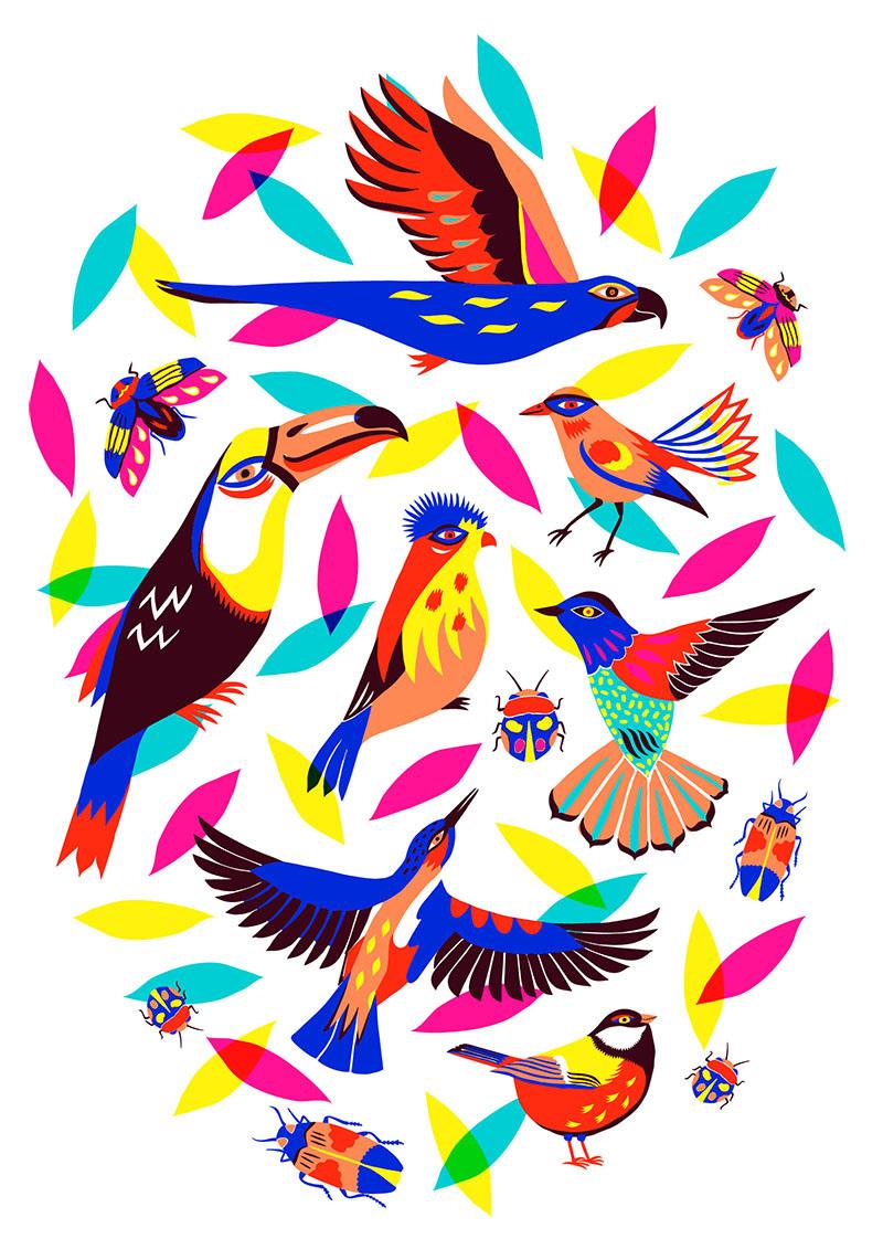 Birds Amp Bugs Patterns Margauxcarpentier
